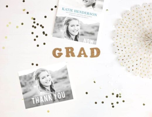 mom blog basic invite graduation cards