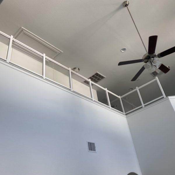 plexiglass wall babyproofing halfwall