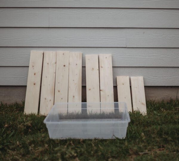 DIY wooden water table autism blog mommy eileen lamb