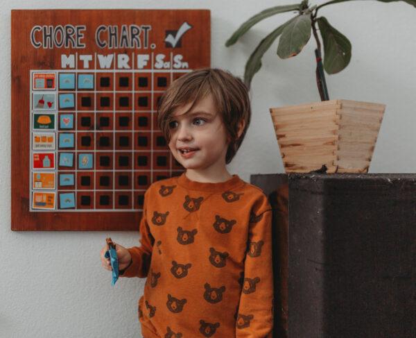 wooden chore chart schedule easy diy mom blog