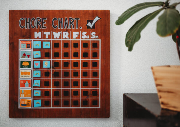 wooden chore chart schedule easy diy mom blog