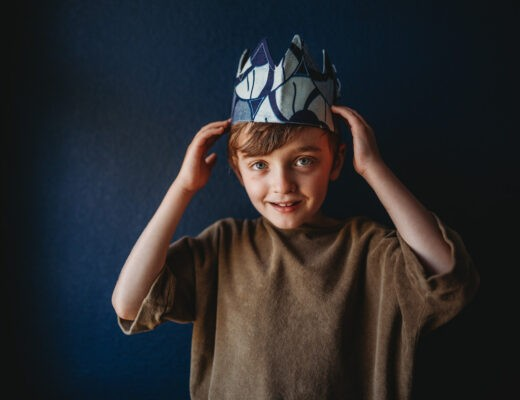autism awareness month boy crown