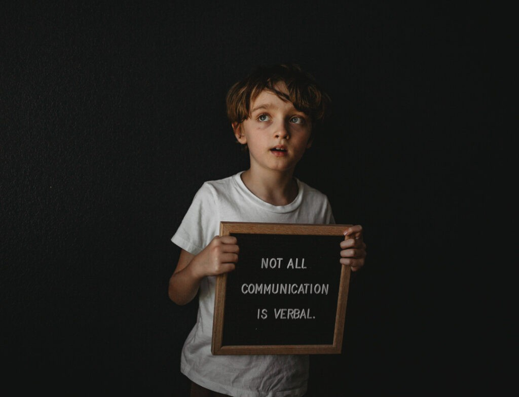 not all communication is verbal